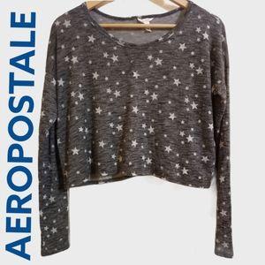 Aeropostale starry sheer crop top (860)